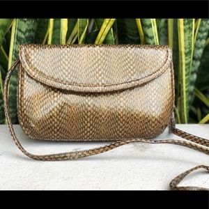 Frenchy of California Leather Snakeskin Purse Bag